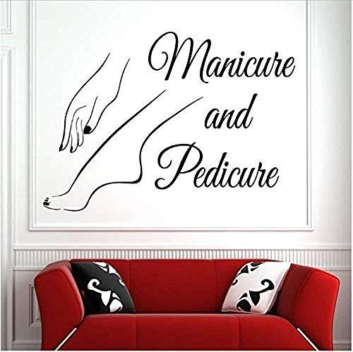 Vinyl Wand Fenster Aufkleber Nail art Wandaufkleber Schönheitssalon Maniküre Pediküre Wandkunst Wand Nagelstudio Dekoration 42 * 30 Cm
