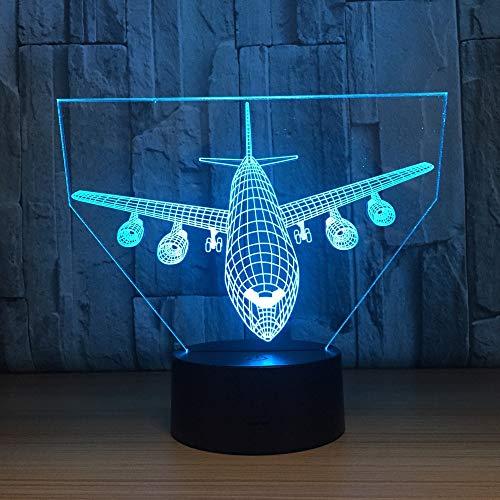 3D Nachtlicht Fernbedienung Boeing Air Plane 7 Farblampe 3D Visual LED Nachtlichter für Kinder Touch Usb Tischlampe Modell Flugzeug Flugzeug