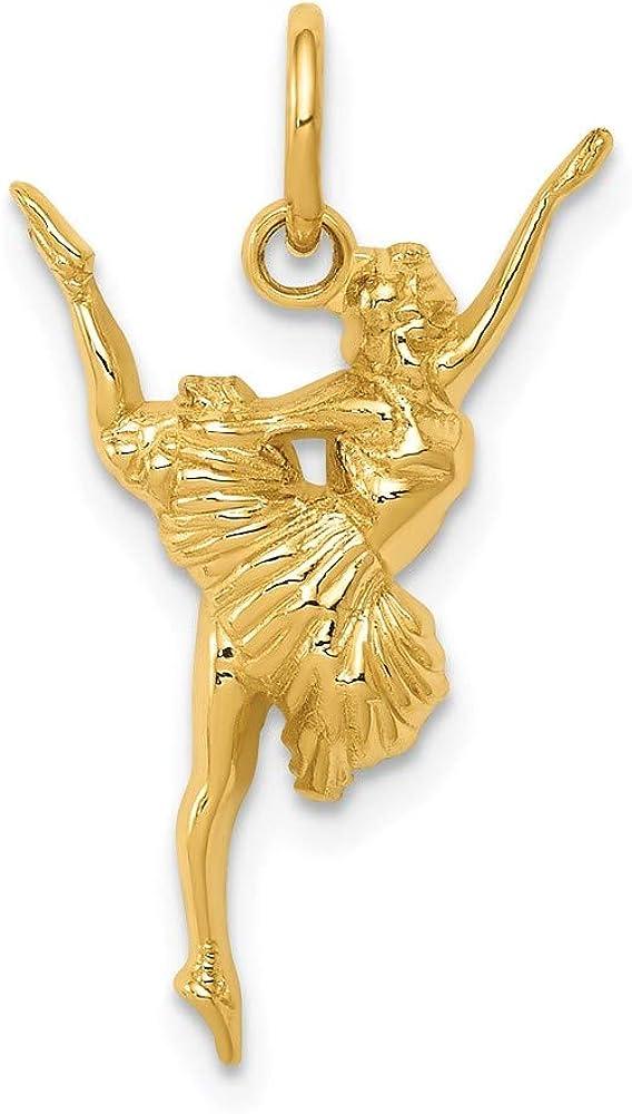 Charm Pendant 14K trend supreme rank Yellow Gold mm 13 Ballerina 21