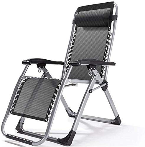 MGE Deck chair,Sun Lounger Deck Chair Folding, Garden Zero Gravity Patio Lounger Chair Outdoor Beach Camping Portable Support 200kg Reclining