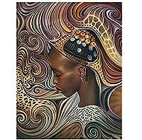 DIY 5Dダイヤモンド絵画モザイクモザイクダイヤモンド刺繍クロスステッチ工芸品アフリカの女性の家の装飾