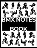 BMX NOTES BOOK: silhouette BMX noir et blanc - A4 (French Edition)