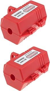 D DOLITY 2 Pcs Red Plug Lockout Box, Fits Most Plugs, Plastic, 0.7 inch Cord Diameter, Safe