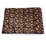 prunushome Coffee Pet Dog Bed Mat Fresh Filter Drink and Cups Washable Non-Slip Crate (46'x30')