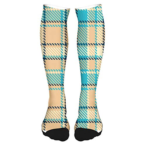 2021 Fashion Thigh High Socks Cotton Over the Knee Socks,Zigzag Patterned Lines Ancient Celtic Culture Inspired Fashion,Long Knee High Socks for man and woman 60cm