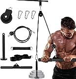 Elikliv Accesorio de Poleas para Entrenamiento de Músculo de Brazo, DIY Máquina de 2,0m Cable de Polea de Fitness, Sistema de Polea de Arrastre y Levantamiento de Peso para Tríceps y Bíceps