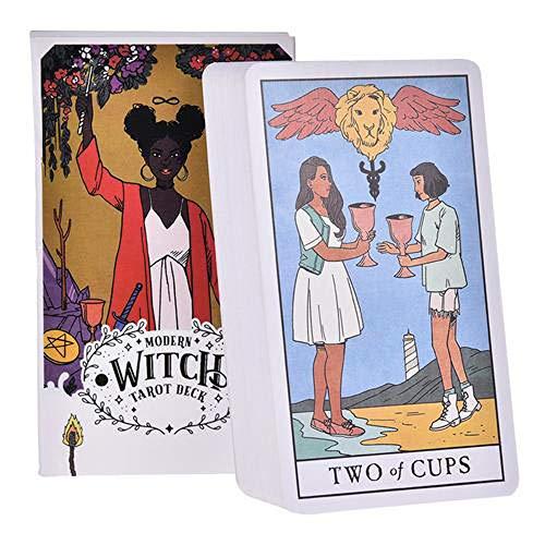 CXHM 78Pcs Tarotkarten, Warten Tarot Deck Board Radiant Classic Radiant Tarot Karten Rider, Tarot Deck Brettspielkarten(H-8)