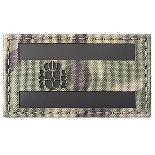 Multicam Infrared IR Spain Flag Bandera España 3.5x2 IFF Tactical Morale Touch Fastener Patch