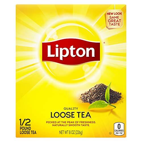 lipton black teas Lipton Loose Tea For An Iced Tea or Hot Tea Beverage Black Tea Can Help Support a Healthy Heart 8 oz