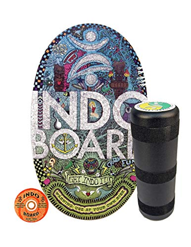 INDO BOARD Original - Doodle Design - Balance Board for Fun, Fitness and Sports Training - Comes with 30