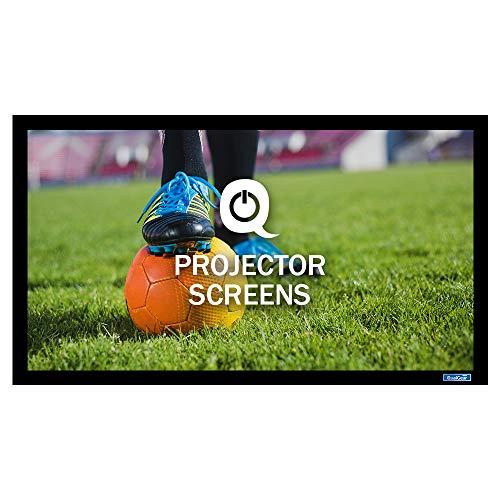 QualGear 110-Inch Fixed Frame Projector Screen, 16: 9 4K HD Ultra White at 1.2 Gain (Qg-PS-Ff6-169-110-W)