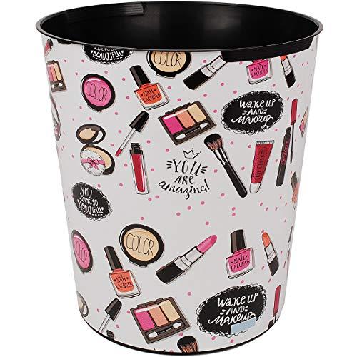 alles-meine.de GmbH Papierkorb / Behälter - Make Up & Lippenstift / Kosmetik - Schminke - 10 Liter - wasserdicht - aus Kunststoff - Ø 28 cm - großer Mülleimer / Eimer - Abfalleim..