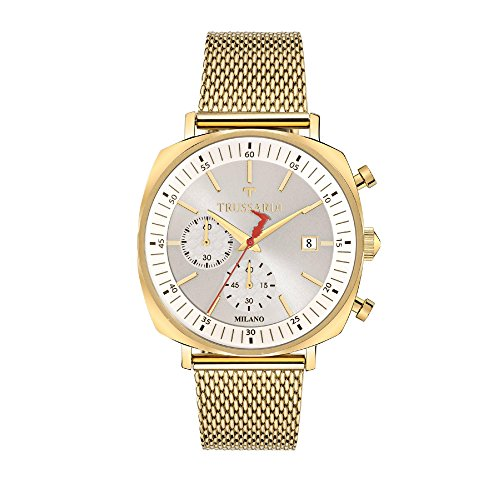 TRUSSARDI Orologio Cronografo Quarzo Uomo con Cinturino in Acciaio Inox R2473621001
