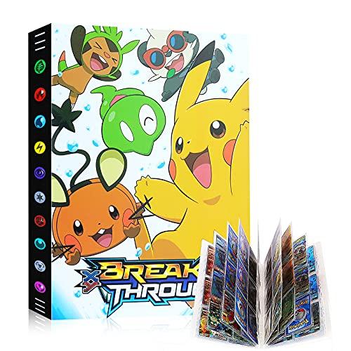 Raccoglitore Carte Pokémon, Porta Carte Pokemon Grande, L'album ha 24 Pagine e può Contenere 432 Carte Album per Carte Pokemon GX Ex, Album di Carte Collezionabili Pokémon Cartella (Ggioia Pikachu)
