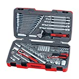Teng Tools 106 Piece 1/4, 3/8 & 1/2 Inch Drive Metric Regular/Shallow & Deep Socket Set - TM106