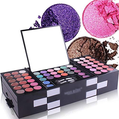 MUUZONING 148 Colores Paleta de Maquillaje - Cosmético Maquillaje Set - Makeup Paleta de sombra de ojos Ultimate Shadow Palette Delineador Corrector Rubor y Lápiz Labial #219