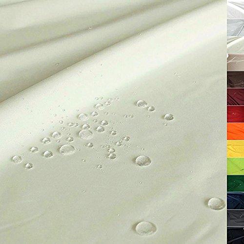 TOLKO Sonnenschutz Nylon Planen-Stoff wetterfeste Meterware - 180 cm Breit | Wasserdicht beschichtet, Reißfest und Blickdicht | Universal Outdoorstoff (Hell Beige)