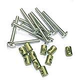 VEDA - Juego de 20 tornillos de 60 mm de largo, color bronce