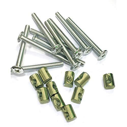 AERZETIX 50x Pernos roscados con cabeza cilindrica M3x8mm DIN912 acero inoxidable A2 huella 2.5mm Allen C17559