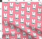 Rosa Punkte, Hase, Ostern, Brille, Niedlich, Tiere,
