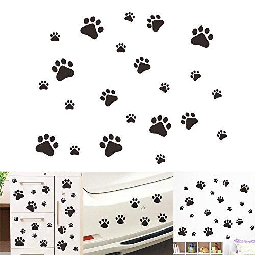 VintageBee - Adhesivo decorativo para pared, diseño de huellas de perro, 20 unidades