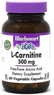 BlueBonnet L-Carnitine 500 mg Vitamin Capsules, White, 60 Count
