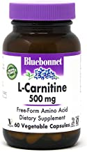 BlueBonnet L-Carnitine 500 mg Vitamin Capsules, 60 Count