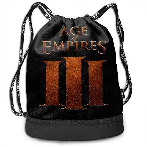 Mochilas y Bolsos, Mochilas Casuales, Bolsas de Gimnasio, Age of Empires Drawstring Bag Bundle Backpack Travel Backpack for Teens College