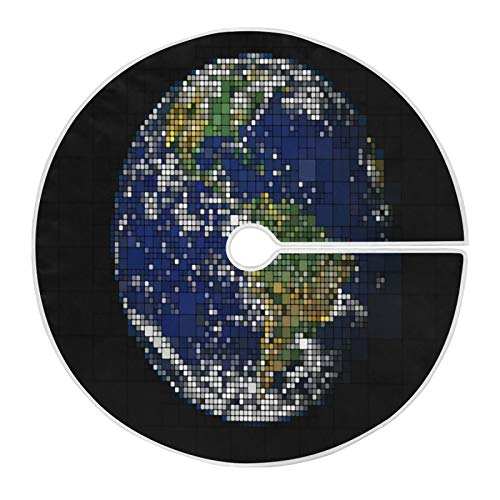 LORONA Earth Planet Globus Weltkarte Weihnachtsbaum Rock Weihnachtsbaum Matte 119,9 cm für Weihnachtsdekorationen Indoor Outdoor Urlaub Party Home Ornamente