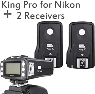 Pixel KingPro Nk King Pro Wireless 1/8000s TTL Flash Trigger with 2 Receivers for Nikon