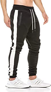 Tansozer Tracksuit Bottoms Slim Fit Mens Joggers Stripe Design