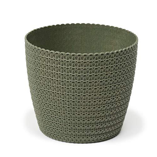 Lamela Eco Flowerpot Herb Plant Flower pot | Magnolia Jersey | Windowsill Holder Balcony Garden Container Bucket | Home Decor |Organizer box decor | Mix! Match! Play!(Ø 110 mm, Forest green)