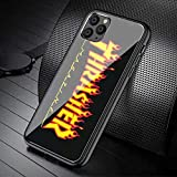 Thrasher Magazine Fire Flame Phone case for iPhone 11 Pro Shockproof Protection Scratch Resistant Cover for iPhone 11 Pro (T-Black6)