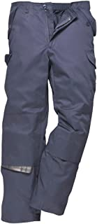 Combat Work Trousers Pants Knee Pad Pockets Half Elastic Waist Durable Workwear[40''-41''] [Reg 31'']