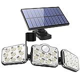 Fousômo Luces Solares para Exteriores 3 Cabezas 138 LEDs LED Lampara Aplique...