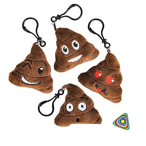 Shop Zoombie Emoji Poop Plush Key Chain Backpack Clips 2.75' - 12 Pack Assorted