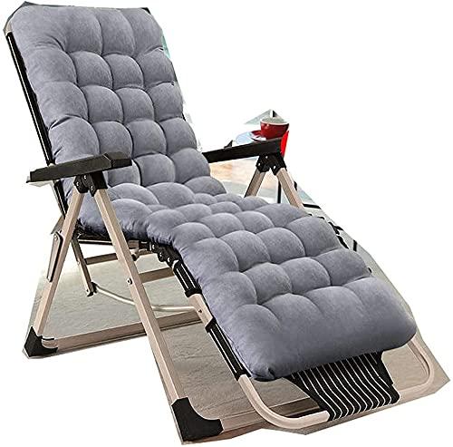 MION Liegestuhl Garten, Gravity Garden Recliner Folding Recliner, Zero Gravity Office Nap Chair Klappbett, Outdoor Lounge Terrassenstühle Strandstuhl mit Kissen