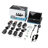 Kit de Sistema de Seguridad CCTV DVR de 4 Canales 960P Cámara 4 AHD Monitor LCD de 10 Pulgadas Enchufe Europeo Azul y Negro