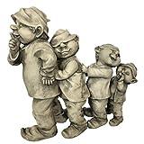 OF Wichtel Polonaise Figuren - Gartenfiguren Gnom, Trolle für außen - Wetterfest, groß