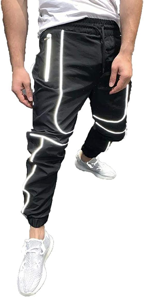 SUITLIM Men's Reflective Track Pants Ranking TOP3 Fashion Casual E Jogger Lightweight