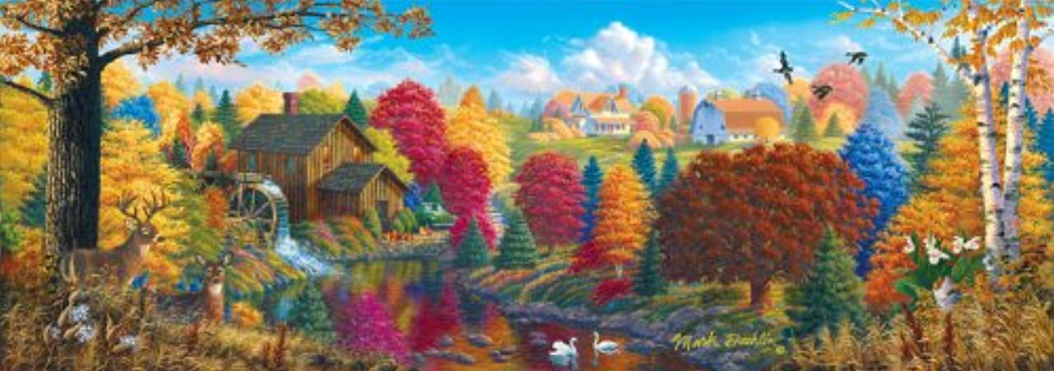 Master Pieces Union River Mill Panoramic Jigsaw Puzzle
