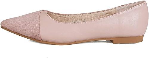 mujerzapatos zapatos de mujer, zapatos Planos Casuales, zapatos Cortos y Puntiagudos de Boca Baja, zapatos de Pala de Fondo Suave, zapatos de Noche de Hadas,A,39