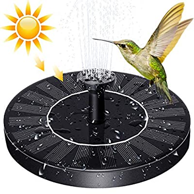 SYMMONA Solar-Powered Fountain Pump for Bird-Bath, 1.4w Flotating Solar Water Fountain with 4 Nozzles for Outdoor Garden,Pond,Pool…