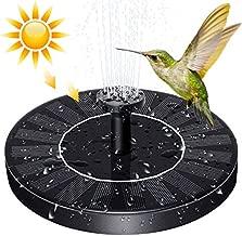 SYMMONA Solar Powered Fountain Pump for Bird-Bath, 1.2w Mini Flotating Solar Fountain with 4 Nozzles for Outdoor Garden,Pond,Pool…