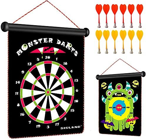 Juego de dardos para niños de 6 a 7 a 8 a 9 años, el mejor regalo de cumpleaños para adolescentes y niños, incluye 12 dardos