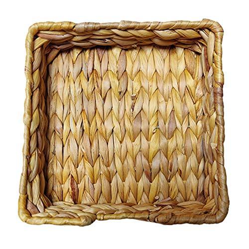 Fransande Calabash - Bandeja de tejido para pan, cesta de frutas para el hogar, cocina, escritorio, aperitivos, organizador de artículos