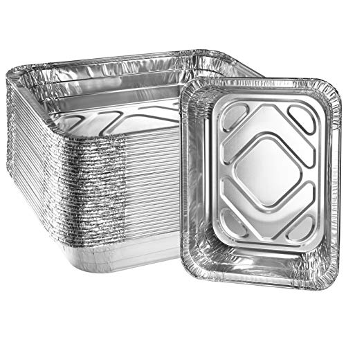Disposable Aluminum Foil Pans by Green Direct - Half Size (9 x 13 inch) Baking & Roasting Pan for all kitchen & cooking needs, Pack of 30