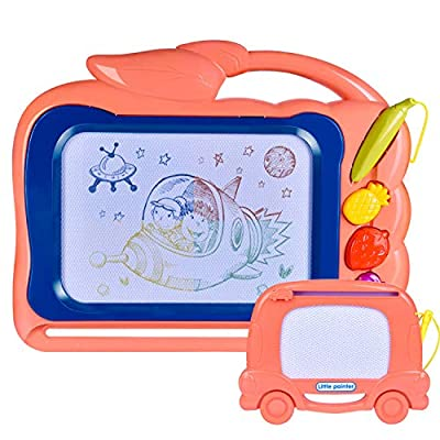 """FUN LITTLE TOYS 2 Pack Magnetic Drawing Board for Kids, 12"""" X 15"""" Doodle Board Toddler Toys, Best Choice for Birthday Gifts"""