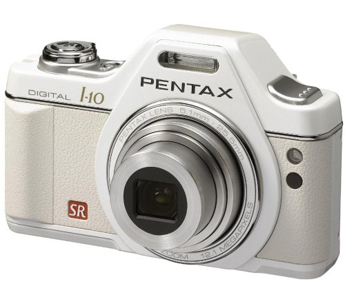 Pentax Optio I-10 - Cámara Digital Compacta 12.1 MP - Blanco (2.7 Pulgadas LCD, 5X Zoom Óptico)